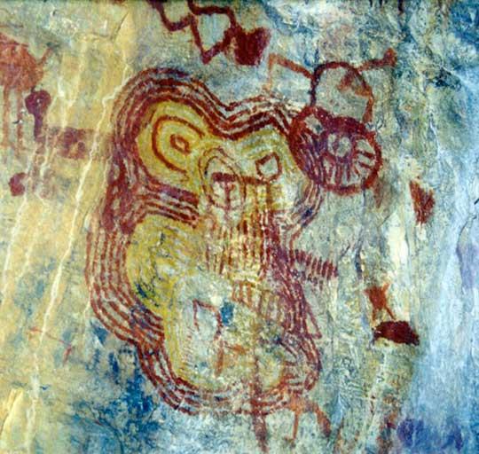 Foto de pintura rupestre estranha tirada por Jackson Rubem
