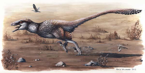 Ilustração 2 - Dinossauro com carne e osso.